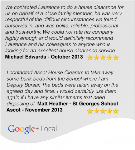 House Clearance Customer Testimonials